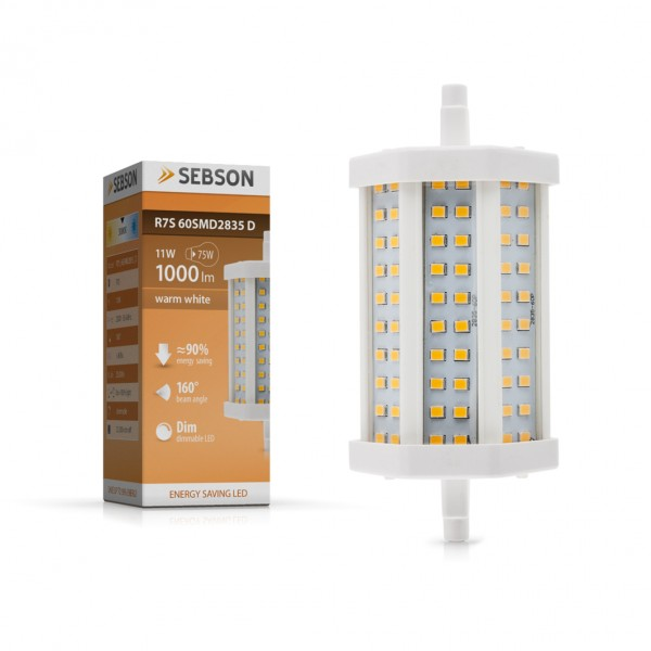 led r7s dimmbar 11w ersetzt 75w 1000lm dimmable lampe. Black Bedroom Furniture Sets. Home Design Ideas