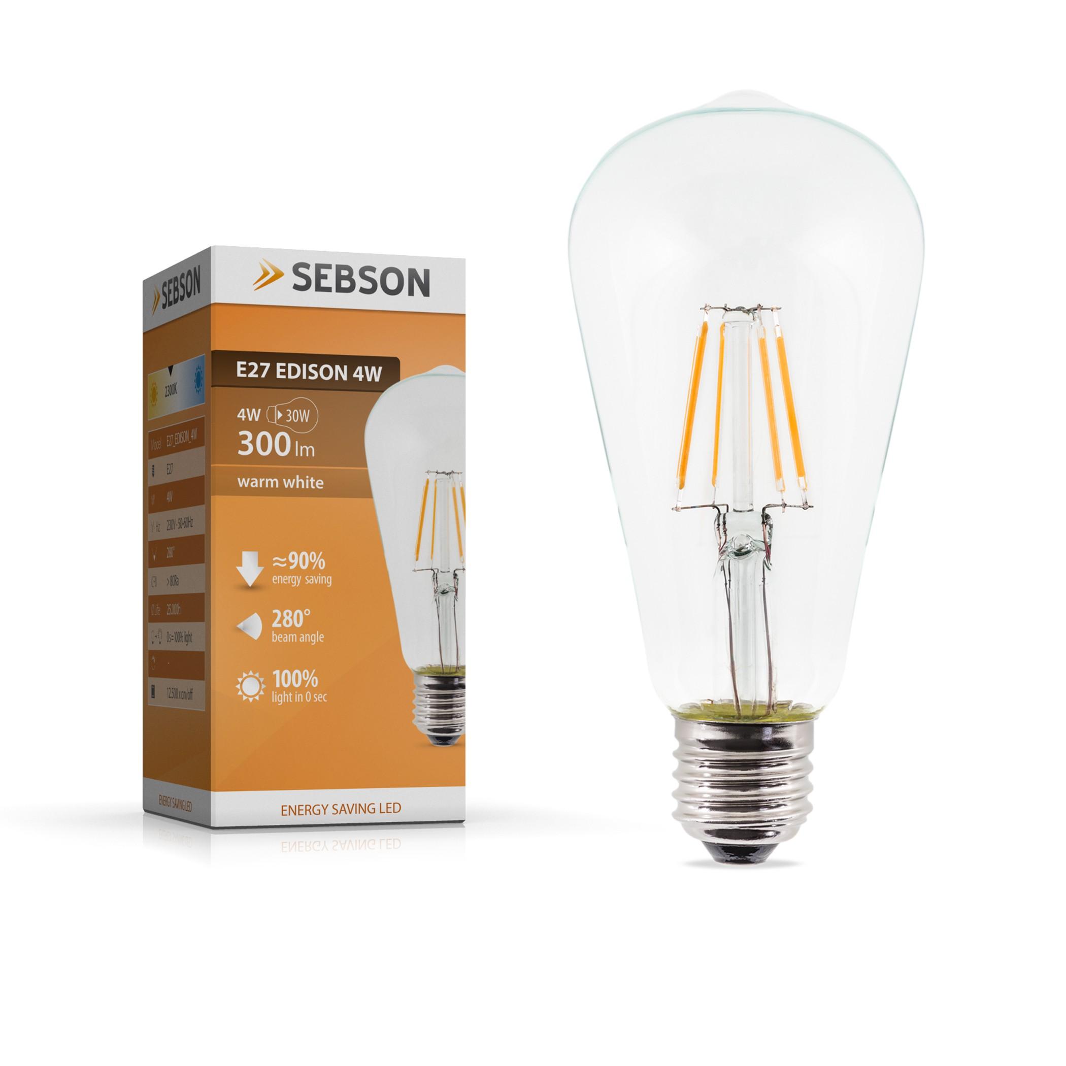 E27 Edison 4W