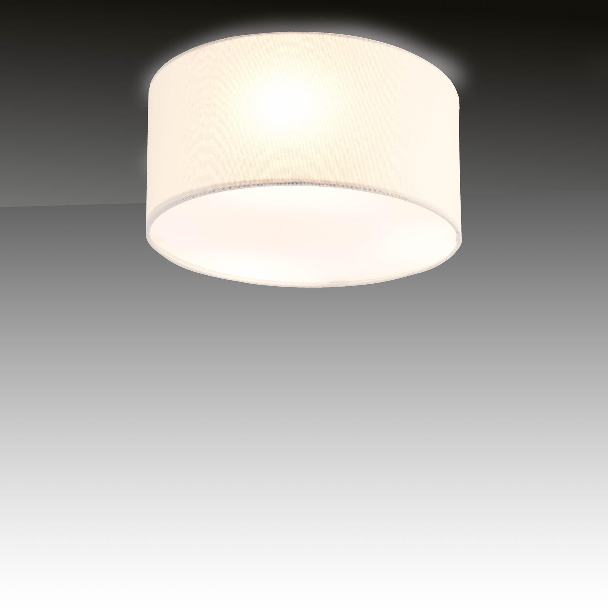 deckenlampe wei stoff textil 3x led lampe e27 5w deckenleuchte rund sebson ebay. Black Bedroom Furniture Sets. Home Design Ideas