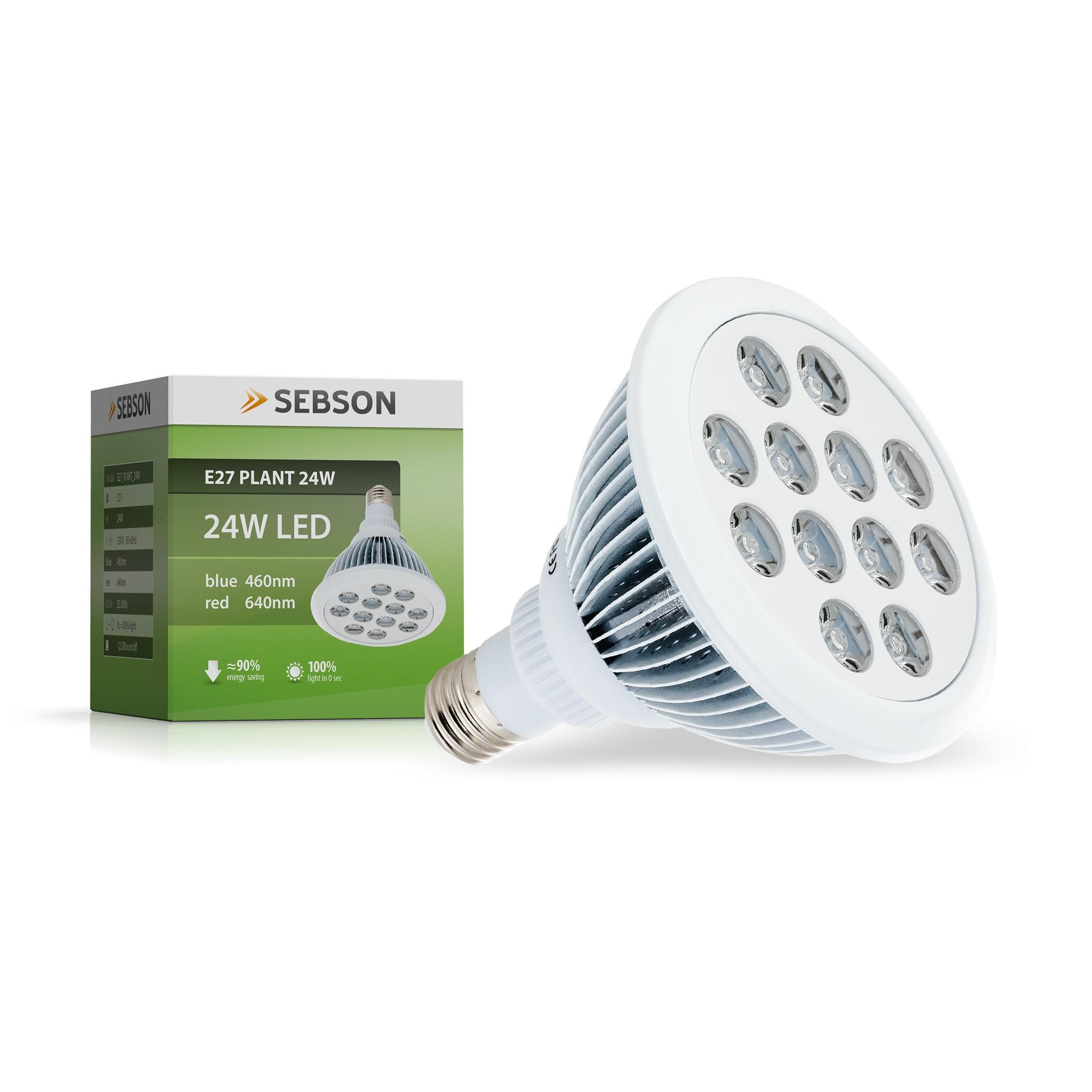 Pflanzenlampe E27 24W
